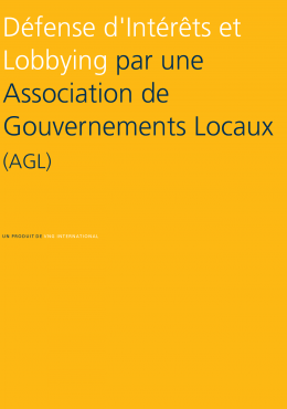 Advocacy and Lobbying by a Local Government Association