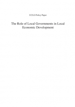 local economic development thesis Thesis (ma (public and development local economic development it forms part of the economic and social development mandate given by national government.